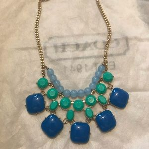 Multicolor Blue/Green Bauble Necklace